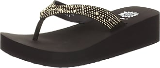 Yellow Box Womens Africa Wedge Flip Flop, Brown, 9 M US