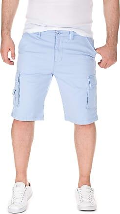 Yazubi Mens Summer Cargo Chino Shorts Mundo, Light Blue (11405), W29