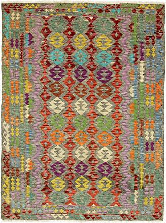 Nain Trading 249x179 Kilim Afghan Heritage Rug Modern/Design Dark Grey/Orange (Handwoven, Wool, Afghanistan)