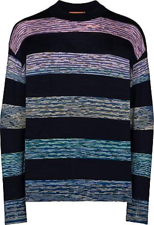 Missoni Suéter decote careca com listras - Azul