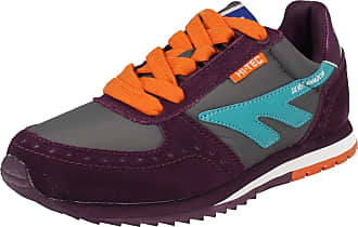 Hi-Tec Ladies Hi-Tec Lace Up Casual Trainers Shadow Original - Purple/Green/Orange - UK Size 3 - EU Size 35 - US Size 5