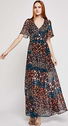 BCBGeneration Metallic Floral Maxi Dress