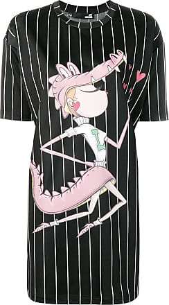 Love Moschino cartoon T-shirt dress - Black