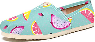 Tizorax Fruits Piece and Strawberry Mens Slip on Loafers Shoes Casual Canvas Flat Boat Shoe