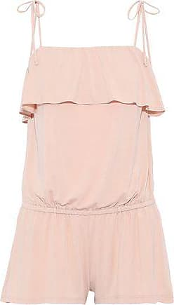 Eberjey Eberjey Woman Ivy The Flounce Ruffled Stretch-modal Playsuit Blush Size S