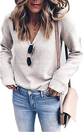 Damen Gestrickt Sweatshirt Pullover Cardigans Sweater Strickjacke Oversize Tops
