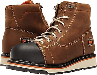 Timberland Gridworks 6 Soft Toe Boot (Brown Full-Grain Leather) Mens Work Boots