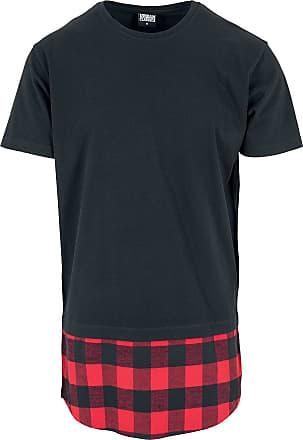 7df51bc23d7e Urban Classics Long Shaped Flanell Bottom Tee - Herr-T-shirt - svart