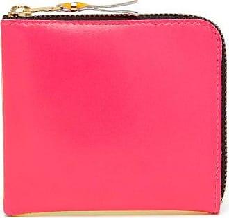 Comme Des Garçons Comme Des Garçons Wallet - Zip-around Bi-colour Leather Wallet - Womens - Pink Multi
