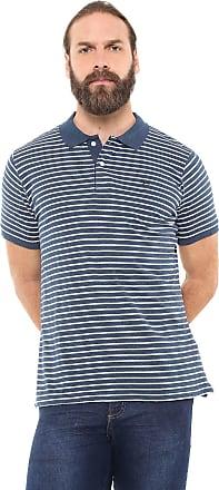 Yachtsman Camisa Polo Yachtsman Reta Listrada Azul/Off-White