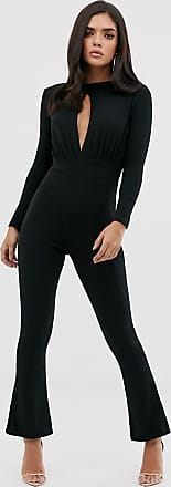 In The Style Keyhole Wide Leg Jumpsuit-Black