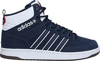 adidas hardcourt hi winterized white and blue