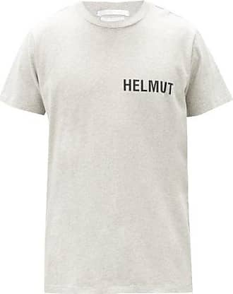Helmut Lang Glowcore Logo-print Cotton-jersey T-shirt - Mens - Grey