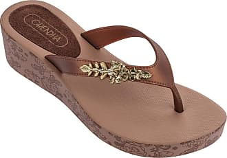 ad7ef05b4e7 Grendha Womens Thong Sandals Brown Bronze Brown Size  4
