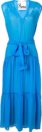 8pm belted maxi dress - Blue