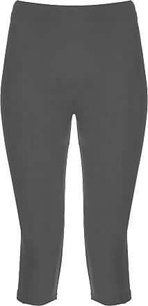 The Celebrity Fashion Ladies Girls Quality Jersey Soft Stretch Plain 3/4 Under Knee Crop Leggings Black