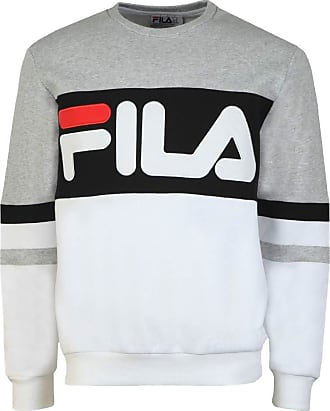 Fila Freddie Colour Block Crew Sweater X-Small 289 Light Grey Marl/White/Black