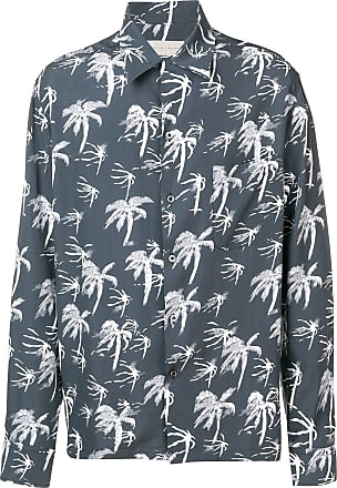 Paura Camisa com estampa de palmeira - Cinza