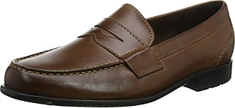 Rockport Mens Classic Penny Dark Brown Loafers, Brown (Dark Brown), 8 UK 42 EU