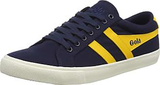 Gola Mens Varsity Sneaker, Light Grey/Navy
