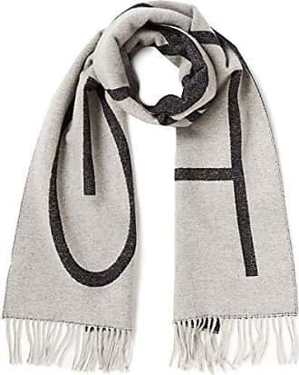 GANT O1. Logo Wool Scarf, Echarpe Homme, Gris (Light Grey Melange 94 e2c2281ae39