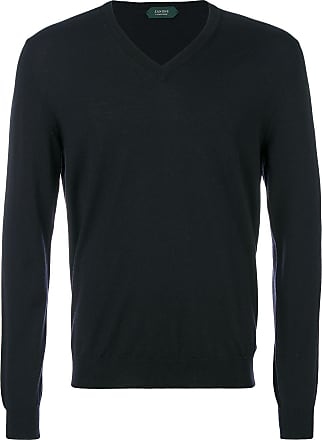 Zanone slim V-neck sweater - Blue