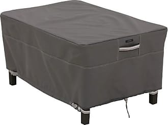 Classic Accessories Ravenna Rectangle Ottoman/Side Table Cover - Taupe