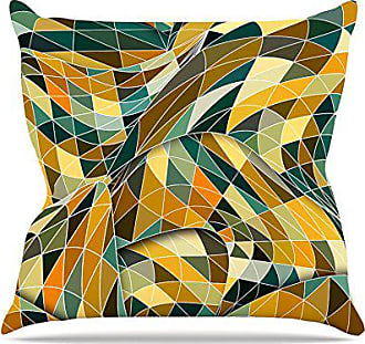 KESS InHouse Danny Ivan Bring You Back Yellow Teal Throw Pillow, 26 by 26-Inch
