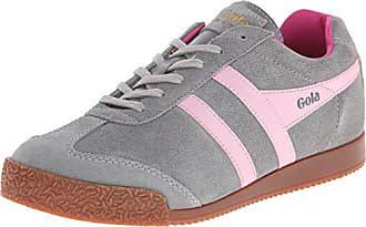 3c9d697f011482 Gola Damen Harrier Suede Sneaker Grau (Grey Pink Fuchsia) 38 EU