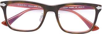 Gucci Armação de óculos quadrada - Marrom