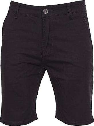 Noroze Mens Plain Cotton Chino Shorts (34, Black)