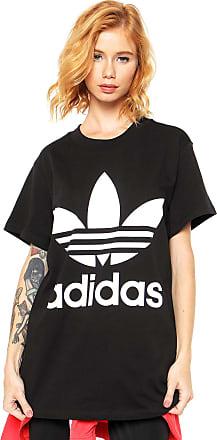 d413507e765 adidas Originals Camiseta adidas Originals Big Trefoil Preta