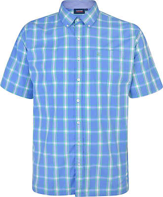 Espionage Mens Plus Size Cotton Blend Short Sleeve Check Shirts (314) in 3XL