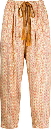 Forte_Forte cropped pleated trousers - ORANGE