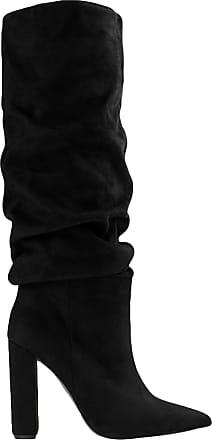 Stivali camoscio neri con tacco alto