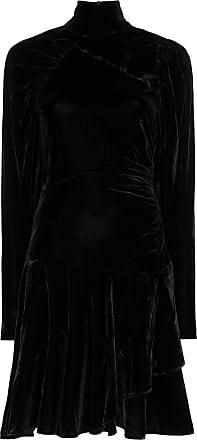 Rotate Vestido mini de veludo com franzido - Preto