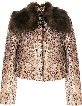 Unreal Fur Serpentina snakeskin-pattern jacket - Brown