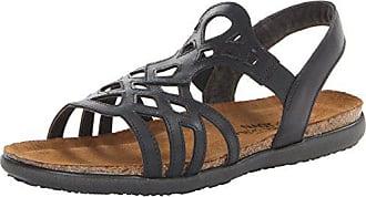 Naot Naot Footwear Womens Rebecca Sandal,Jet Black Leather,36 EU/4.5-5 M US
