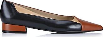 Madeleine Leder-Ballerinas im Patchwork-Look in dunkelbraun MADELEINE Gr 36, cognac/multicolor für Damen. Synthetik