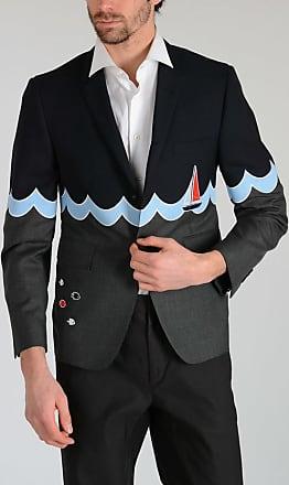 Thom Browne Wool WAVE STORY INTARSIA Blazer size 2