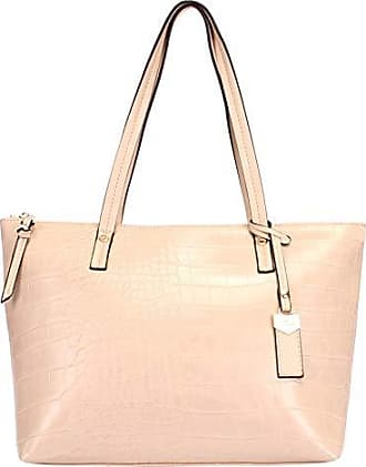 WJ Bolsa Shopping Bag Croco WJ (Bege)