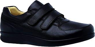 Doctor Shoes Antistaffa Sapato Masculino Diabético em Couro Preto Floater 3058 Doctor Shoes-Preto-40