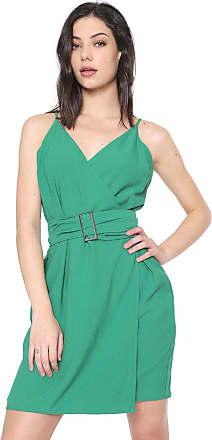 Colcci Vestido Colcci Curto Transpassada Verde