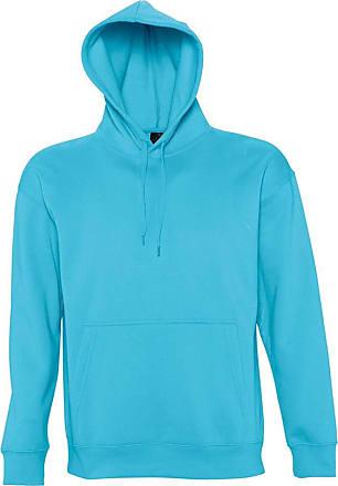 SOLS Slam Unisex Hooded Sweatshirt/Hoodie (L) (Turquoise)