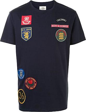 Kent & Curwen multi-patch cotton T-shirt - Blue