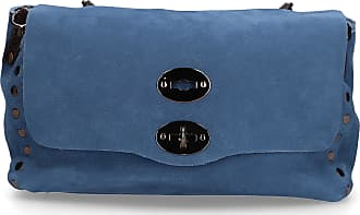 Zanellato Handbag JONES leather logo blue