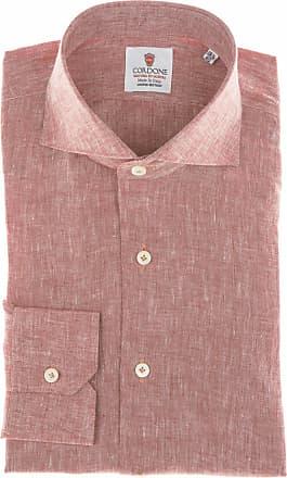 Cordone 1956 Camicia sartoriale Mod. Red Linen Shirt - Tessuto lino - Colore rosso - Taglia 36
