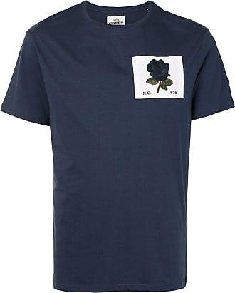 Kent & Curwen short sleeve embroidered patch T-shirt - Blue