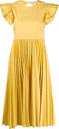 Red Valentino Vestido com pregas - Amarelo