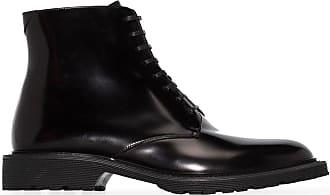 Saint Laurent Ankle boot Cesna de couro - Preto